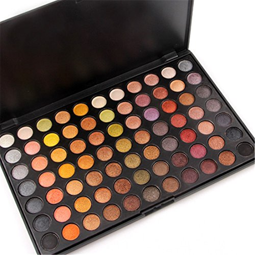 Kits Billig Make Up (JasCherry 77 Farben Lidschatten Makeup Palette Set - Sleek Pulver Augenschatten Professional Make Up Etui Box - Satte Farben Kosmetik Eyeshadow Palette Kit)