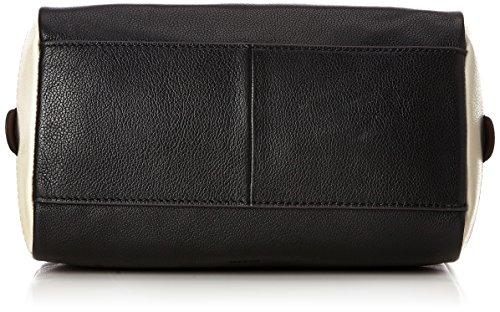 Fossil - Damentasche? Fiona Satchel, Borse a secchiello Donna Nero (Black/white)