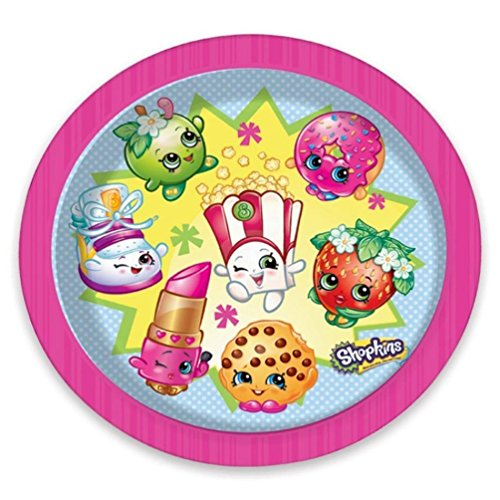 SHOPKINS officielle Assiettes Lot de 8