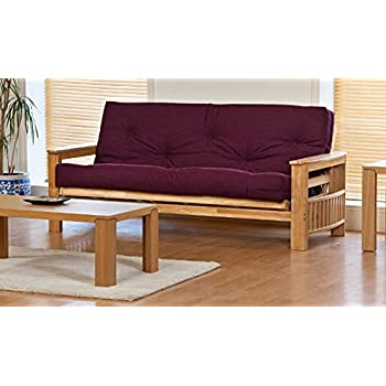 jasmin 3 seater sofa bed with supreme victoria plum futon mattress jasmin 3 seater sofa bed with supreme victoria plum futon mattress      rh   amazon co uk