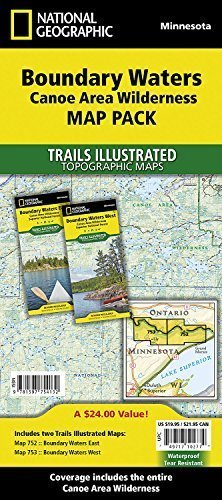 Boundary Waters Canoe Area Wilderness [Map Pack Bundle] (National Geographic Trails Illustrated Map) by National Geographic Maps - Trails Illustrated (2010-07-23)