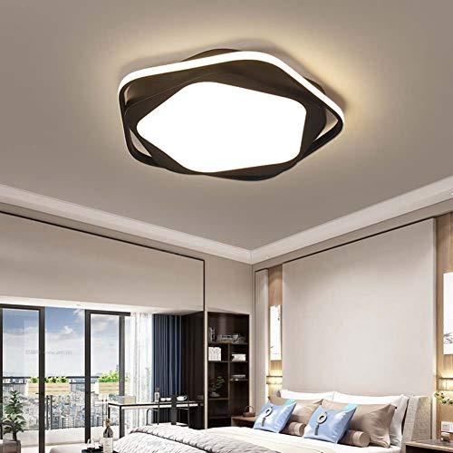 Light-GYH Schlafzimmer Deckenleuchte, Moderne einfache runde Leuchte, stufenloses Dimmen mit Fernbedienung LED Kronleuchter Deckenpendelleuchte -