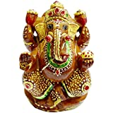 Pooja Gems And Handicrafts Shree Ganesh Ji (2Inch) Idol Jesper With All Gods Hinduism For Pujan, Blessings, Worship