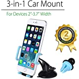 Avantree Multi-location Car Phone Holder, Windshield, Dashboard, Air Vent, Car Mount For iPhone Samsung and more, Universal -089