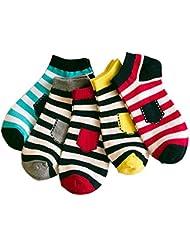 Calcetines finos calcetines cortos calcetines de algodón para la primavera y el verano (5-Pack)
