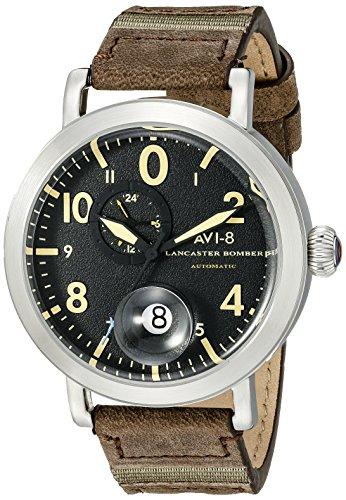 Giacca da uomo avi-8av-4038-01Lancaster Bomber analogico display giapponese orologio automatico marrone