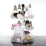 D. Roc Make-up-Organizer, Acryl, klar, Aufbewahrungsbox für Wattestäbchen, Kosmetik, Make-up-Wattestäbchen, Q-Tips, Make-up-Pads, Kosmetik, Wattestäbchen, Wattepads, für Bad/Waschbecken