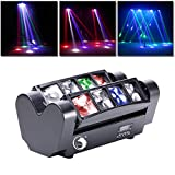 U`King Teste Mobili, Luci a LED Effetto DJ Party Luci da Discoteca Luci DMX512 con 8 * 10W RGBW Luci per Bar Christmas Halloween Party