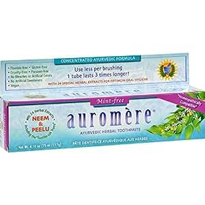 Auromere Dentifrice - Formule ayurvédique - Sans menthe - 136 ml (Lot de 12)