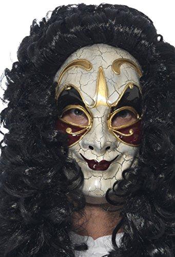 Smiffys 45225 - Herren Venezianischer Maskierter Räuber Maske, One Size (Maskierte Party Kostüme)