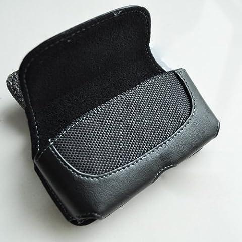 SODIAL(TM) Cartera Funda de Cuero con Clip de Cinturon para Apple iPhone 5