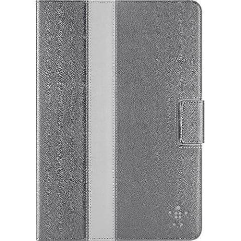 Belkin F7N024VFC00 Basic Stripe Verve W/Stand Custodia per iPad Mini in Ecopelle, Grigio