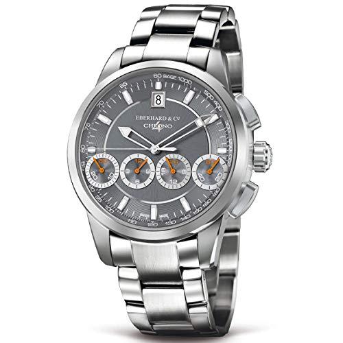 Eberhard & Co Men's Chrono 4 130 42mm Steel Bracelet Automatic Watch 31129.03