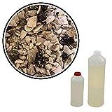 Steinteppich Grigio Perla Venato 7,2m² (75kg Marmorkies + 4,5kg Bindemittel) Epoxidharz Bindemittel, Steinboden, Kiesboden, Kieselboden