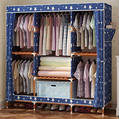 Olydmsky armadio tessuto,armadio in legno massello di stoccaggio in legno massiccio assemblato con doppio armadio pieghevole