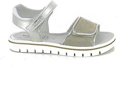 NeroGiardini - Sandalo in Lurex Oro con Strappi