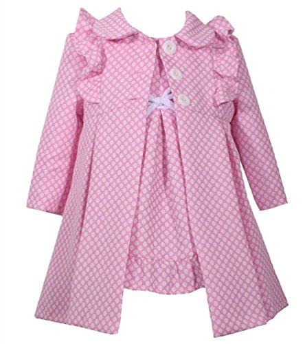 Bonnie Jean Entzückendes Mädchen Outfit - Mantel + Kleid Gr. 74,80,86,92,98,104 (74)