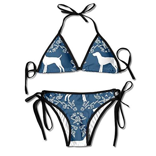 Women Sexy Swimwear Adjustment Pirate Boxing Bikini Set Swimsuits 2 Piece Lace Up Pirate