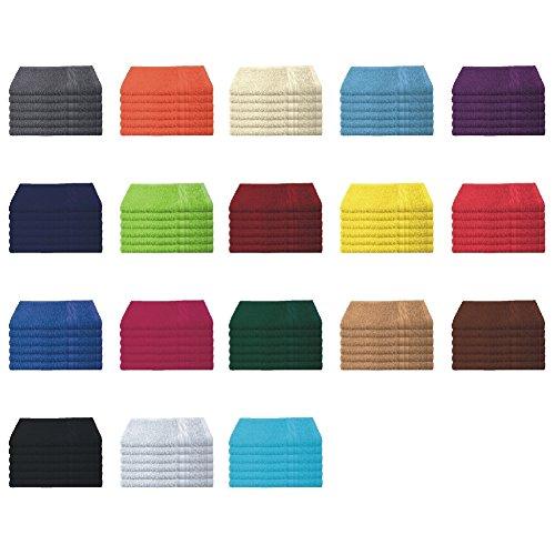 6er Pack / 12er Pack - Gästetücher Set - 6 Gästetücher 30x50 cm - Farbe Natur