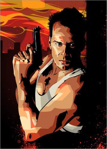 Poster 30 x 40 cm: Die Hard II von Nikita Abakumov - hochwertiger Kunstdruck, neues Kunstposter