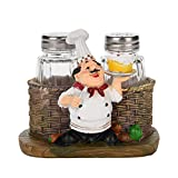 Chef Decor - Resina Fat Chef Cucina Figurine Decor per Home Restaurant Pub Hotel, Regali divertenti, 4 modelli (Style : A)