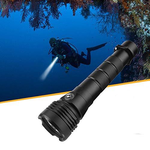 WSXX Lampe de Poche de plongée étanche, Rechargeable sous-Marin Super Lumineux, 3000 lumens, Lampe de Poche de plongée sous-Marine 50M, IPX8 étanche