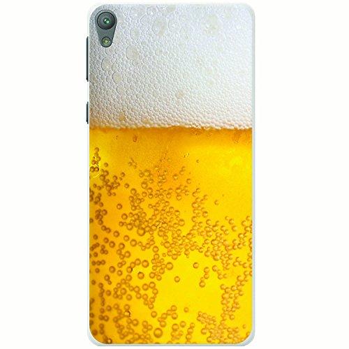 Nahaufnahme schaumiges Bier weiße Krone Hartschalenhülle Telefonhülle zum Aufstecken für Sony Xperia E5