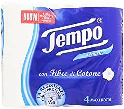Tempo Toilet Tissue Cotton Touch 3-Ply - 4 Rolls (White)