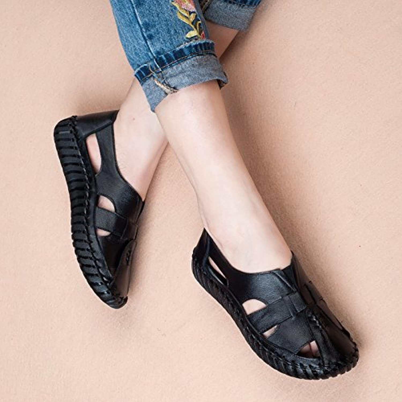 Aa-nvliangxie  s femmes respirant Antique l'été fait main Baotou Chaussures antidérapage Grotte Antique respirant ue35CN36...B07CWRZL6WParent abc8e2