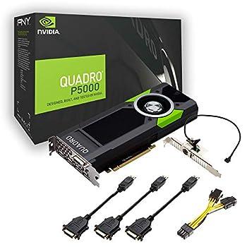 PNY nVidia Quadro P5000 Scheda Grafica da 16 GB, 2560 Cuda Core, Nero