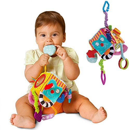 Baby Hängenden Spielzeug, Multifunktions Plüsch Block Clutch Cube Rasseln Frühen Neugeborenen...