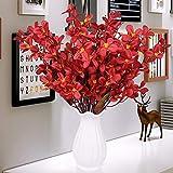 xgruisi Fiore Artificiale nella Pentola Vaso di Ceramica Decorazione della Casa in Lattice Artificiale Tocco Fiore Un Grande Ornamento (14 ° Colore)