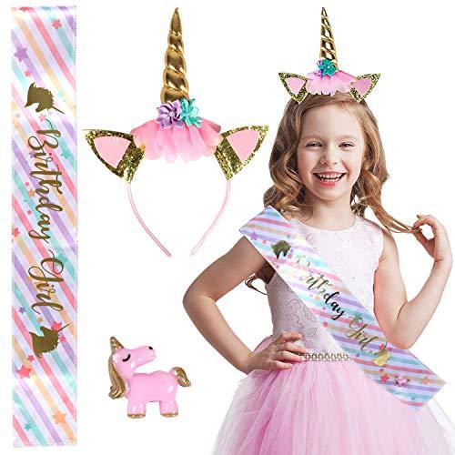 Tacobear 3piezas Unicornio Cumpleaños Accesorios