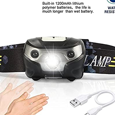 LED Stirnlampe, Ubitree LED Kopflampe, Sehr hell Kopfleuchte, Flashlight, Wasserdicht, leicht und bequem, Perfekt fürs Joggen Gehen Campen Lesen Laufen für Kinder (inklusive AAA Batterie)