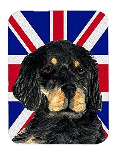 gordon-setter-con-bandiera-inglese-union-jack-british-tappetino-per-mouse-presina-o-sottopentola-ss4