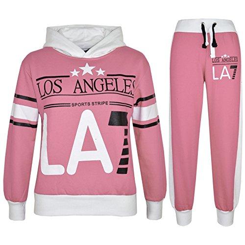 A2Z 4 Kids Kinder Mädchen Trainingsanzug LOS Angeles LA7 Aufdruck - T.S LA7 Baby Pink 11-12