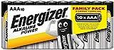 Energizer - Pack de 10 pilas alcalinas Alkaline Power LR03 AAA, family pack