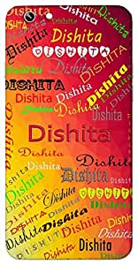 Dishita (Focus) Name & Sign Printed All over customize & Personalized!! Protective back cover for your Smart Phone : Moto G-4
