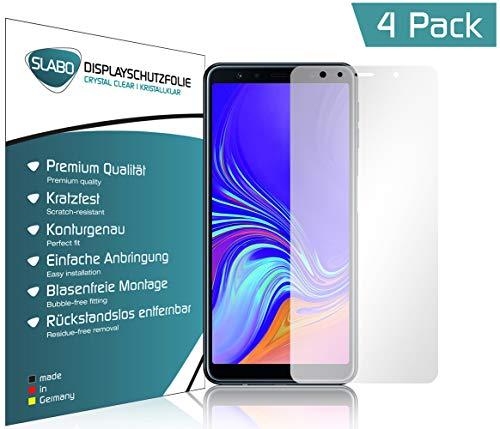 Slabo 4 x Bildschirmschutzfolie für Samsung Galaxy A7 2018 Bildschirmfolie Schutzfolie Folie Zubehör Crystal Clear KLAR