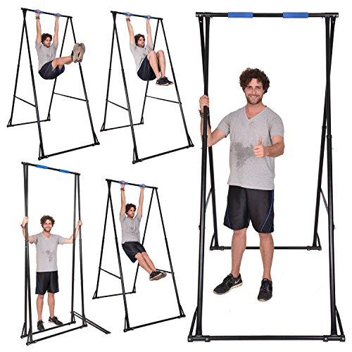 Preisvergleich Produktbild Freistehend Pull Up Bar kt1.1520faltbar Turngeräte für Home, tragbar und höhenverstellbar Fitnesscenter für unteren Rücken Schmerzlinderung, Sehr Stabil & Langlebig Übung Gymnastik Bar