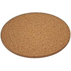 Dessous de plat en liège - rond (env. 25 cm diam., 10 mm d'épaisseur)