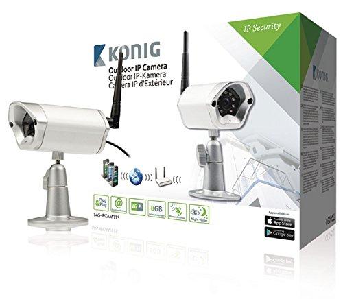 König SAS-IPCAM115 Outdoor IP-Kamera zur Fern-Videoüberwachung Silber -