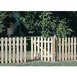 SEIFIL - Porta in legno per recinzioni, classica, 80 x 100 cm