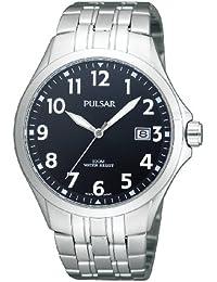 Pulsar Uhren PS9093X1 - Reloj analógico para caballero de acero inoxidable negro