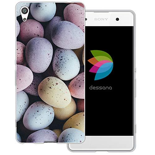 dessana Candy Süßigkeiten Transparente Schutzhülle Handy Case Cover Tasche für Sony Xperia XA Oster Eier