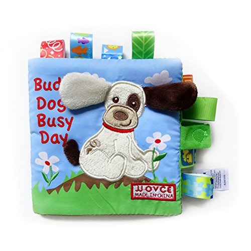 YeahiBaby Puzzle animaux tissu livre bébé jouets tissu début développement livres pour bébés (chien)