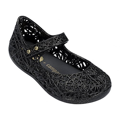 Melissa Shoes Mini Campana Zig Zag Black Glitter