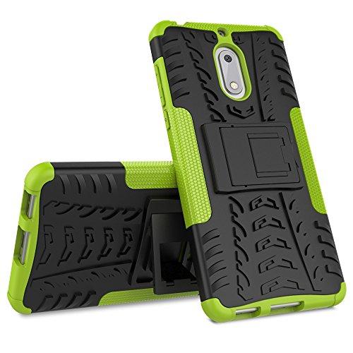 Nokia 6 Custodia Cover Case, FoneExpert® Resistente alle cadute Armatura dell'impatto Robusta Custodia Kickstand Shockproof Protective Case Cover Per Nokia 6