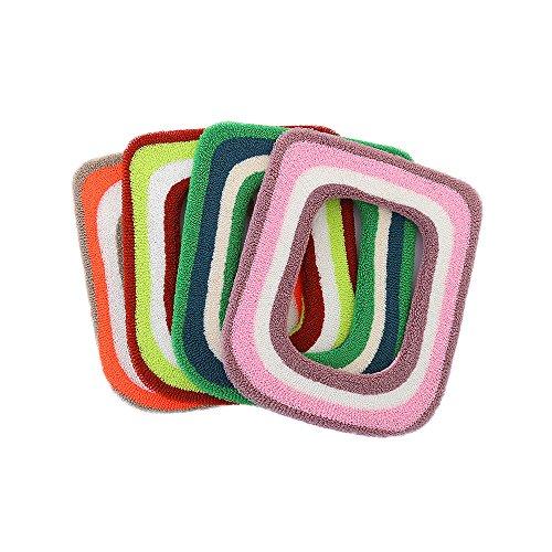 Ya jin colorato extra spesso più caldo copriwater cuscino lavabile panno quadrato closestool coprisedile assortiti (2pezzi)