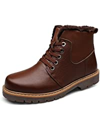HHY-Confortevole e breathableAutumn e Inverno Uomo Scarpe in Pelle di alta aiutare comode scarpe di cuoio Calzature...